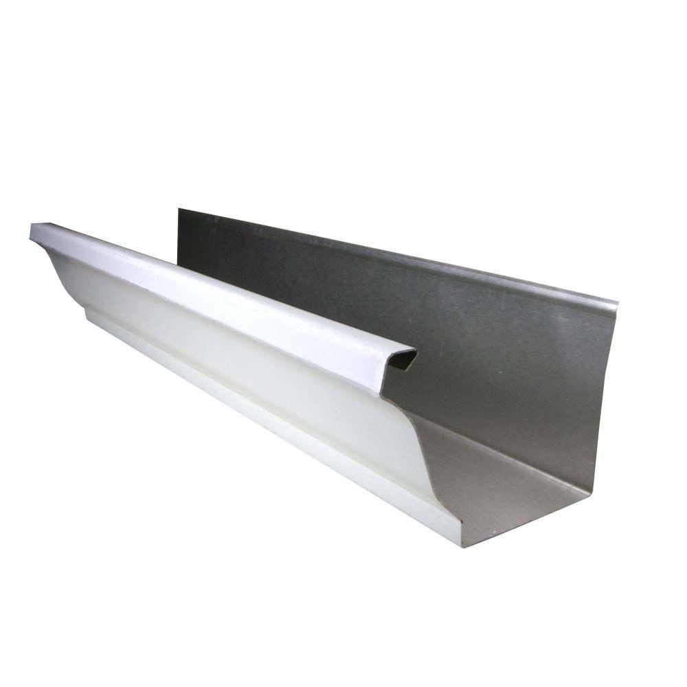 Gibraltar Building Products 5 In X 10 Ft White K Style Aluminum Gutter Og510wha The Home Depot Gutters Gutter Accessories Gutter