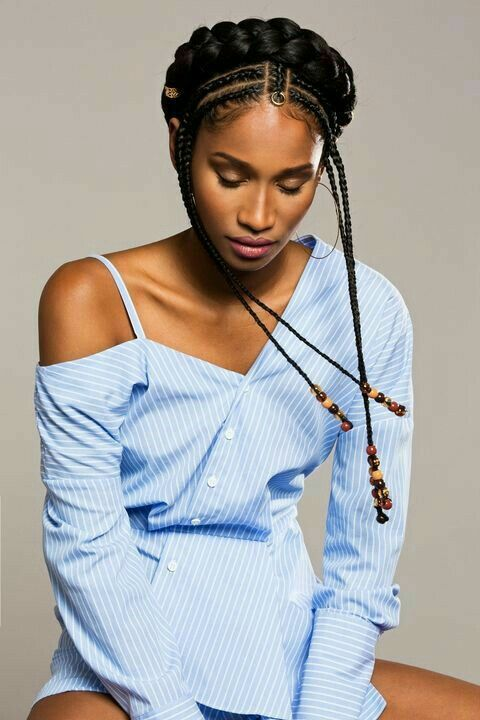 Beautiful Fulani Inspired Braids and hairstyles.