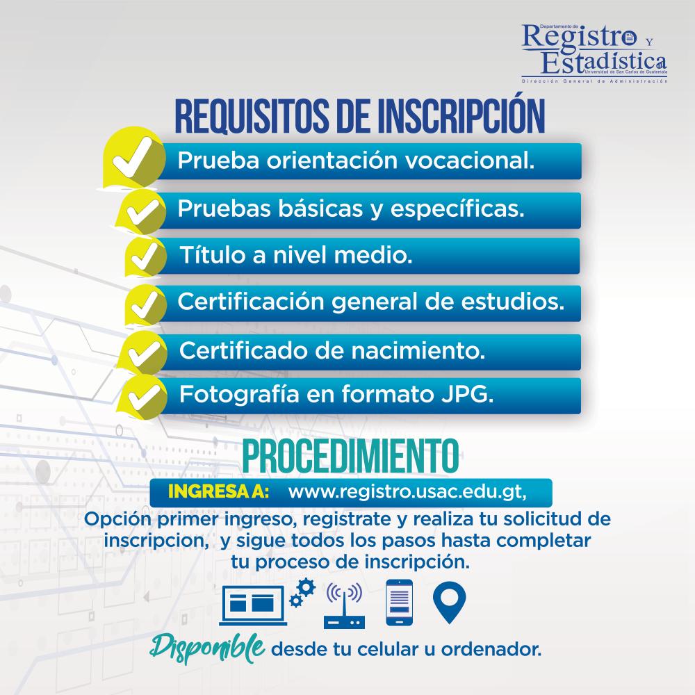 Departamento De Registro Y Estadística Universidad De San Carlos De Guatemala Estadistica Orientacion Vocacional Orientacion