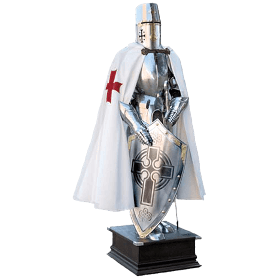 "Figurine Medieval Knight Armor Templar Crusader Cross Sword NEW 6/"" with gift box"
