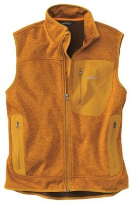 Orvis Windproof Fleece Sweater Vest for Men - Autumn Gold - 2XL ...
