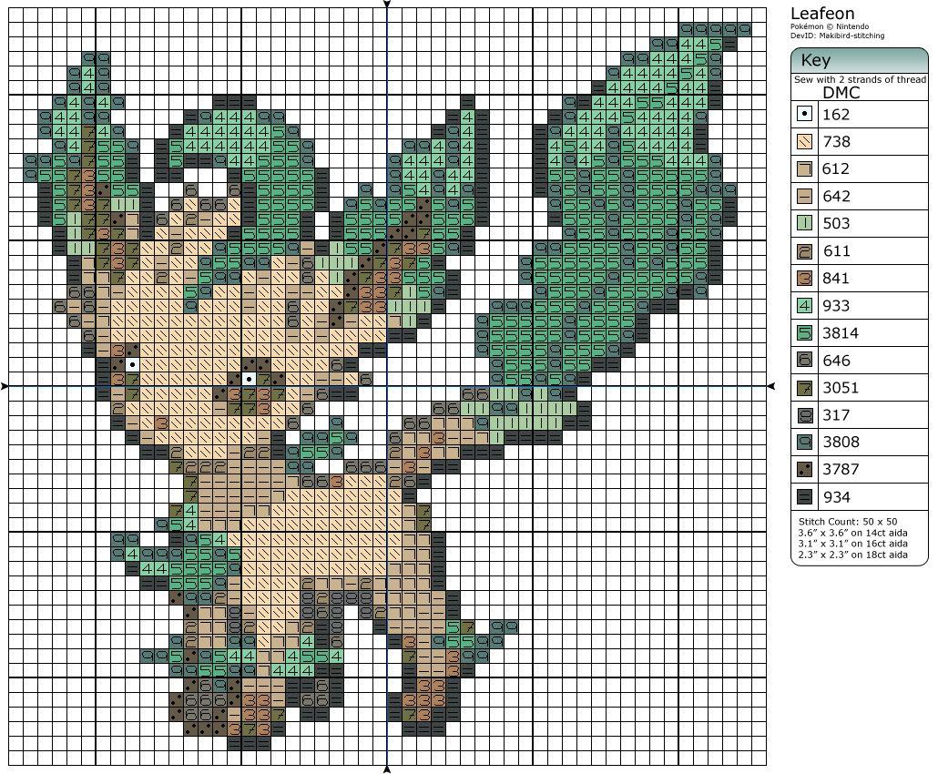 470 - Leafeon by Makibird-Stitching.deviantart.com on @deviantART ...