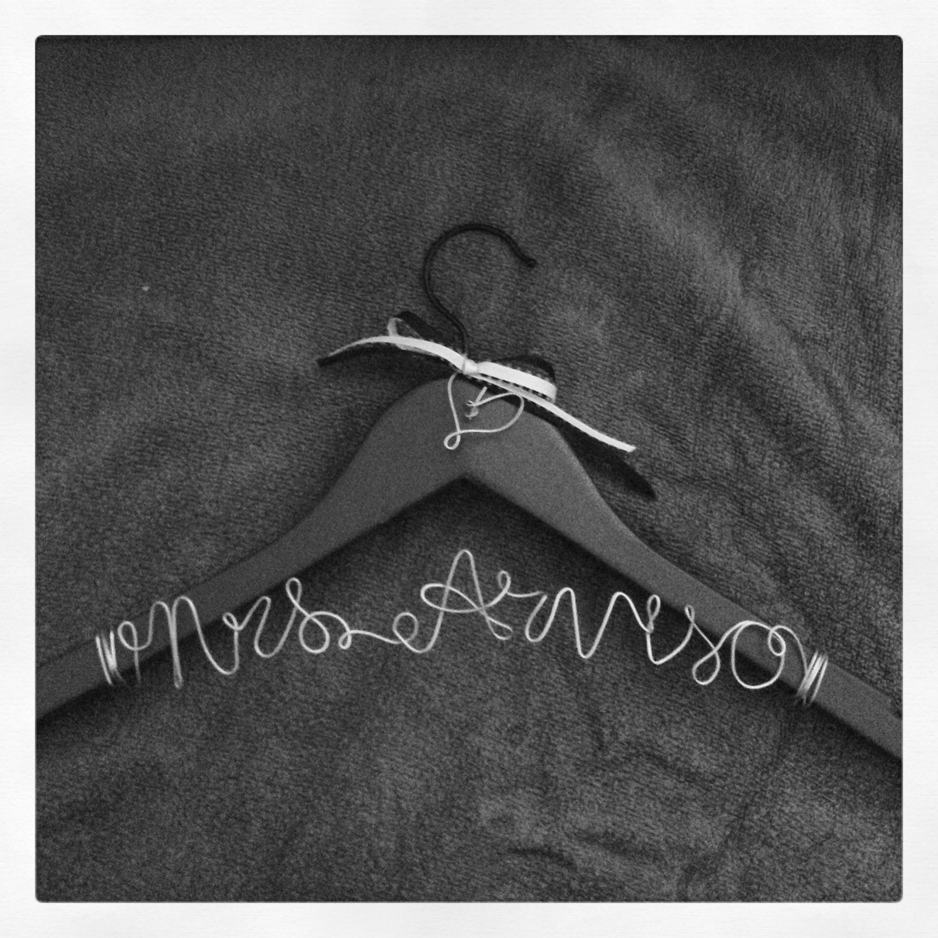 Wedding wire name hangers. Lowes: 5$ 18 gauge galvanize wire ...
