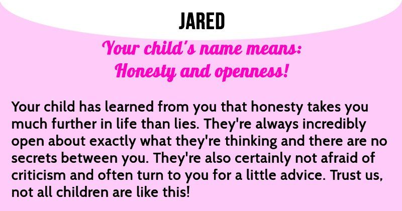 What does your child's name mean?