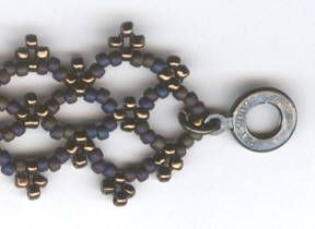 LatticeBracelet - detailed free tute ~ Seed Bead Tutorials