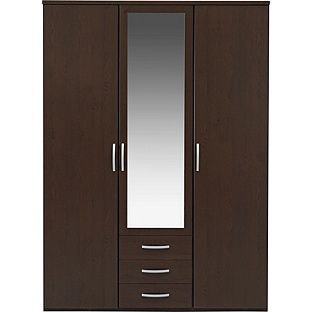 Buy New Hallingford 3 Dr 3 Drw Mirrored Wardrobe Wenge Effect At Argos Co Uk Your Online Shop For Wardrobes Mirrored Wardrobe Wardrobe Argos Home
