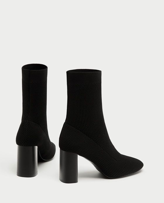 33904358a14 FABRIC HIGH HEEL ANKLE BOOTS-Boots and Ankle Boots-SHOES-WOMAN   ZARA  United States