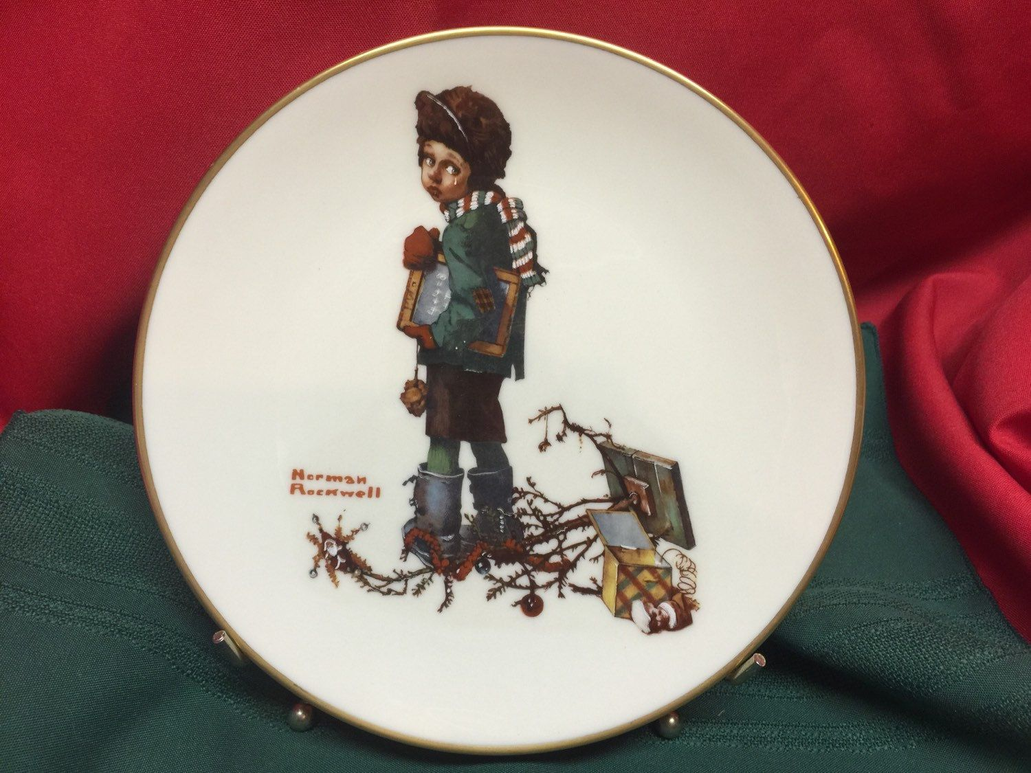 The Norman Rockwell Fine China Plate Collection 8 1/2\