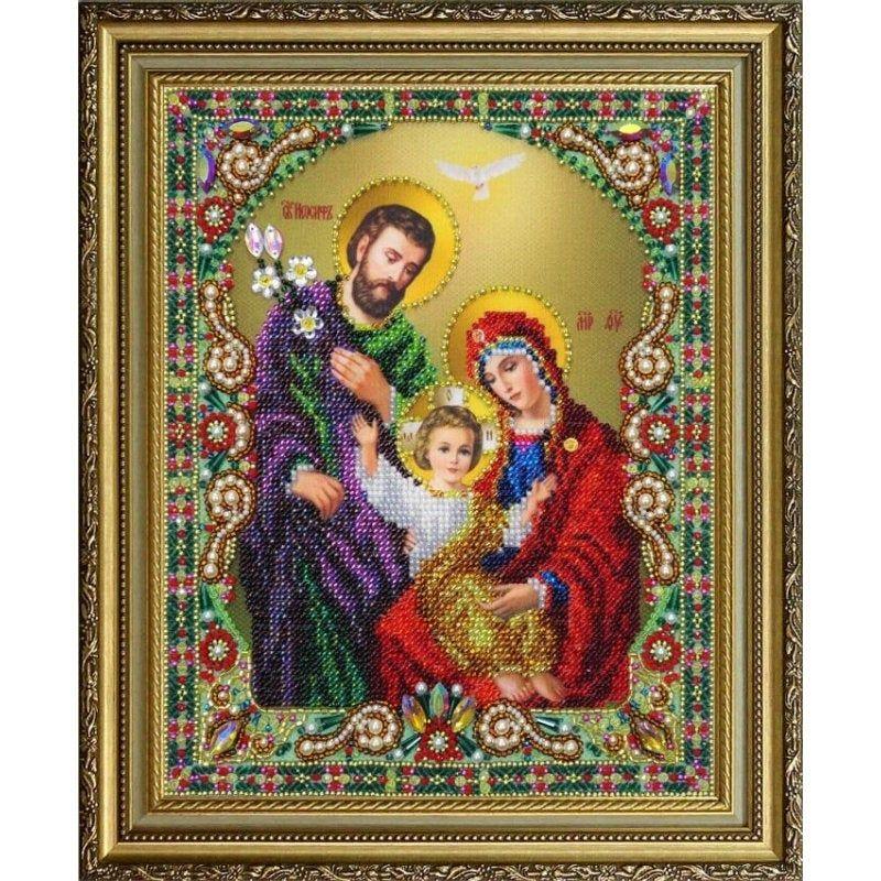 Bead Embroidery kit Orthodox icon Holy family DIY Beadwork ...