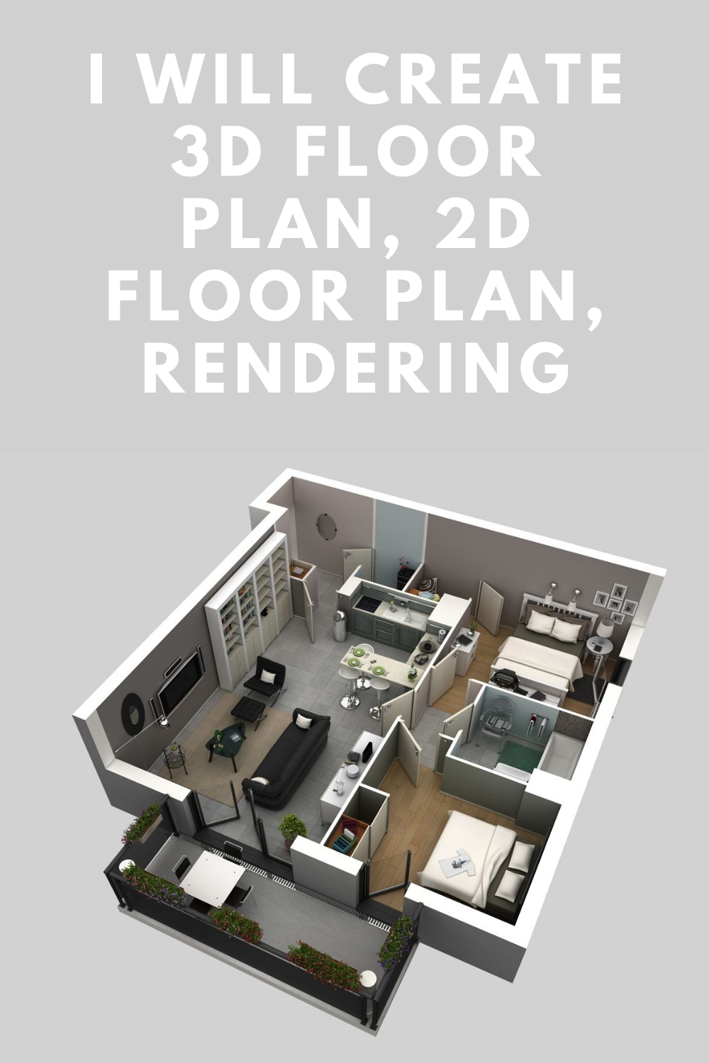 I Will Create 3d Render Realistic 3d Floor Plan Exterior Interior Dream Floor Plans One Level House Plans Modular Home Floor Plans Barndominium Floor Plans