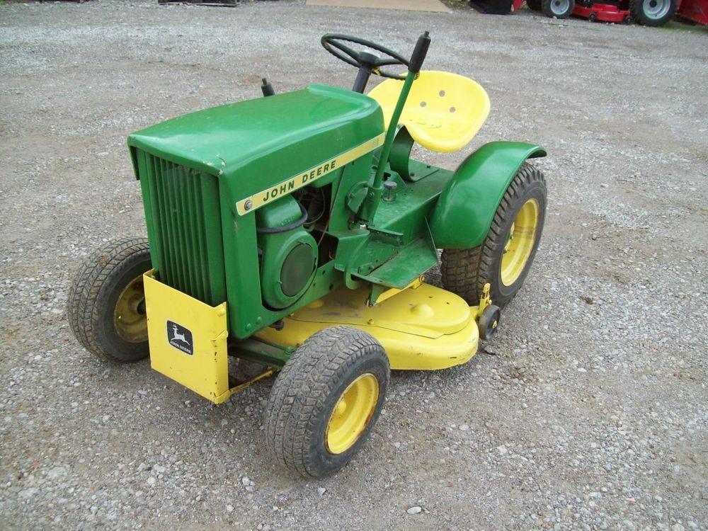 Vintage John Deere 110 Tractor , Older Restoration ,  Runs and Mows Great !! #JohnDeere