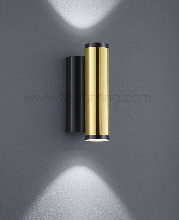 Baulmann leuchten led updown wall light polished brass and painted baulmann leuchten led updown wall light polished brass and painted black finish 64130 audiocablefo