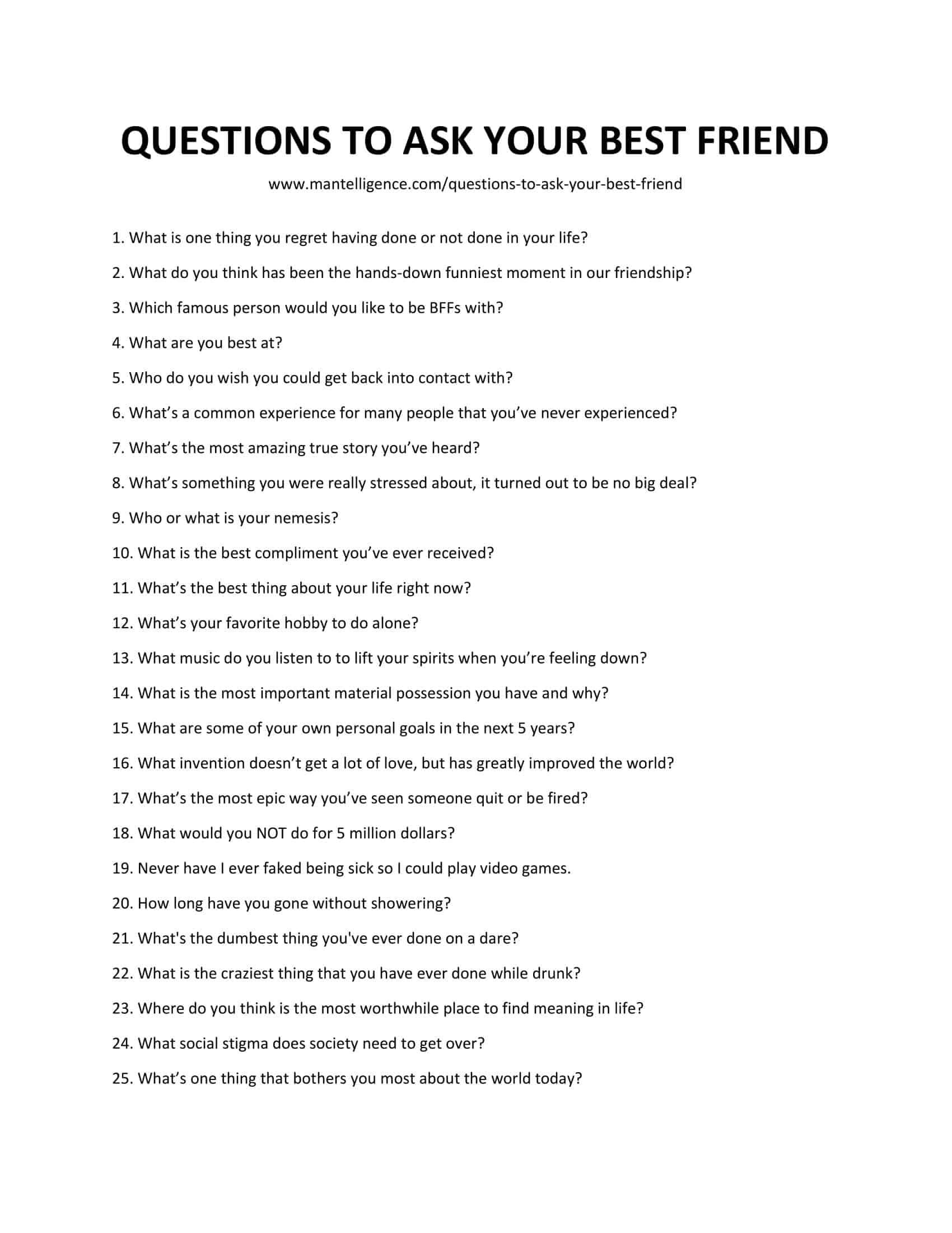 70 Questions To Ask Your Best Friend Quickly Spark Great Conversations