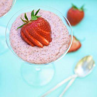 Strawberry & Chia Pudding recipe. #lowfodmap #fodmap