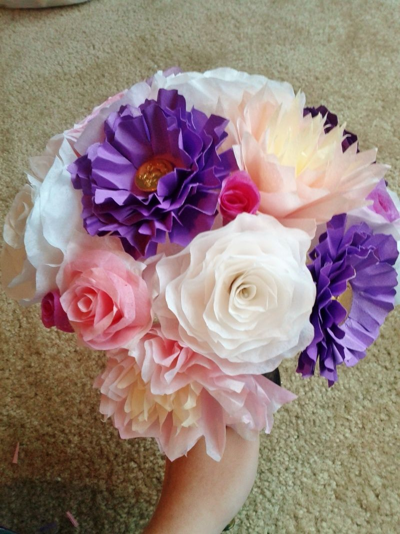 Coffee filter rose bouquet fun flowers paper etc pinterest coffee filter rose bouquet izmirmasajfo