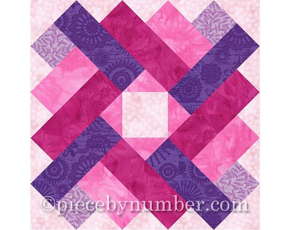 Siena Square Quilt Block Pattern Paper Pieced Quilt Patterns
