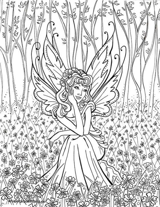 Fee im Wald Malvorlagen - fairies Amelia - #Amelia #