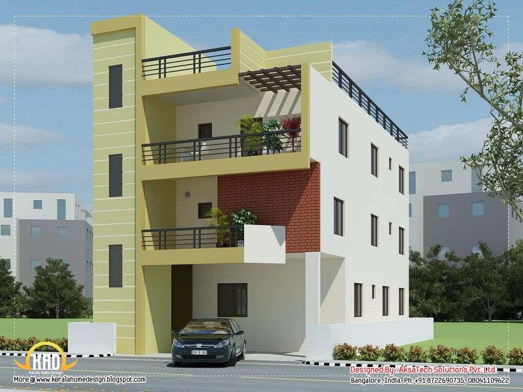 Contemporary Apartment Buildings modern apartment building elevations great 3d home render 04