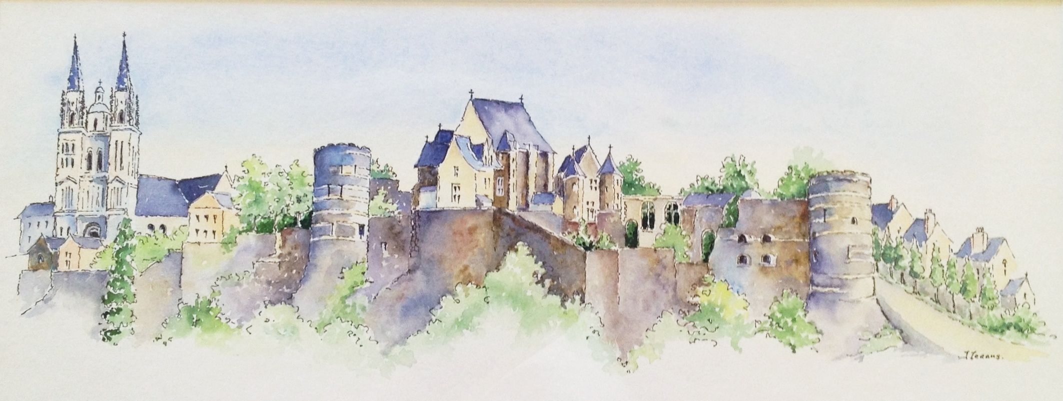 The Chateau At Angers Watercolour By Judith Jerams Loire Valley