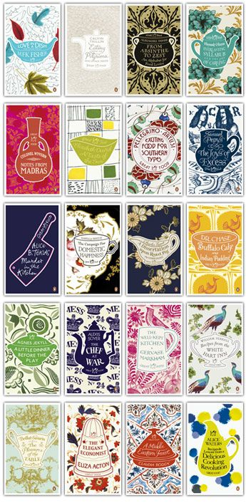 Penguin Classic, Great Food set - Great covers.