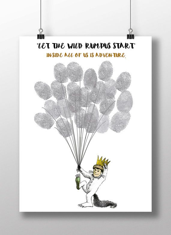Wild things poster Where The Wild Things by SerendipityPaperieUK