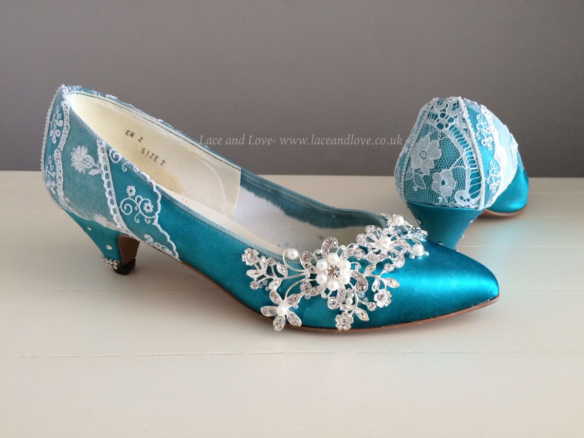 Vintage shoes dyed and made beautiful to give them a new lease of life.