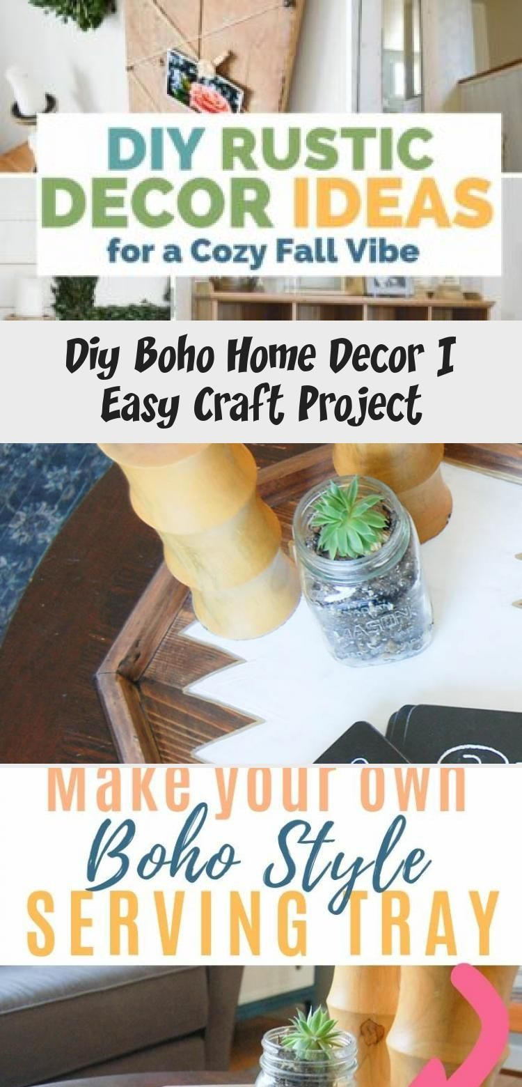 Boho decor inspiration with this DIY serving tray! Transform your home with bohemian style and a little bit of paint! (tutorial included). CLICK for the FULL STEP-by-STEP  #boho #bohodecor #easycraft #video #diypassion #HomeDecorDIYVideosCheap #HomeDecorDIYVideosApartment #HomeDecorDIYVideosIdeas #HomeDecorDIYVideosProjects #HomeDecorDIYVideosBedroom