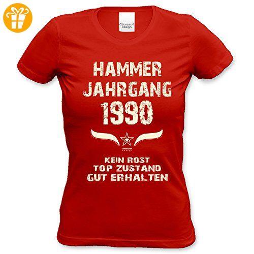 Explore Partner, Funny and more! Geschenk zum 27. Geburtstag :: Hammer  Jahrgang 1990 : Frauen Mädchen Girlie Kurzarm Damen. Partner FunnyLadiesQuotes
