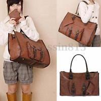 Fashion Women Lady PU Leather Handbag Shoulder Shopping Bag Tote Messenger Bag