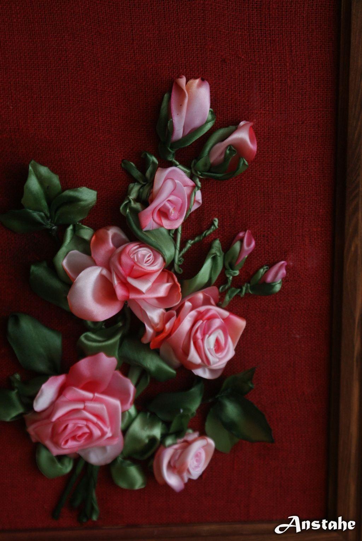 More beautiful ribbon roses crochet flowere pinterest ribbon more beautiful ribbon roses izmirmasajfo
