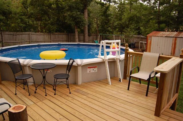 Deck for round above ground pool google search pool for Above ground pool decks indianapolis