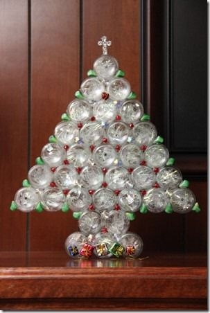 Pharmacy Bottle Christmas Tree Christmas Jars Baby Food Jar Crafts Recycled Christmas Decorations