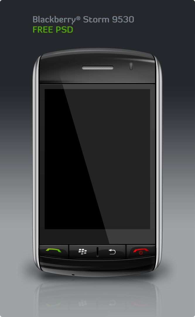 FREE BlackBerry Storm © PSD from Templay