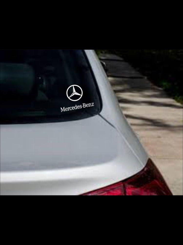 Vehicle Emblem Car Logo Premium Vinyl Decal Car Window Sticker Mercedes Benz Galacticcreationsbystariie Car Decals Vinyl Car Window Stickers Window Stickers