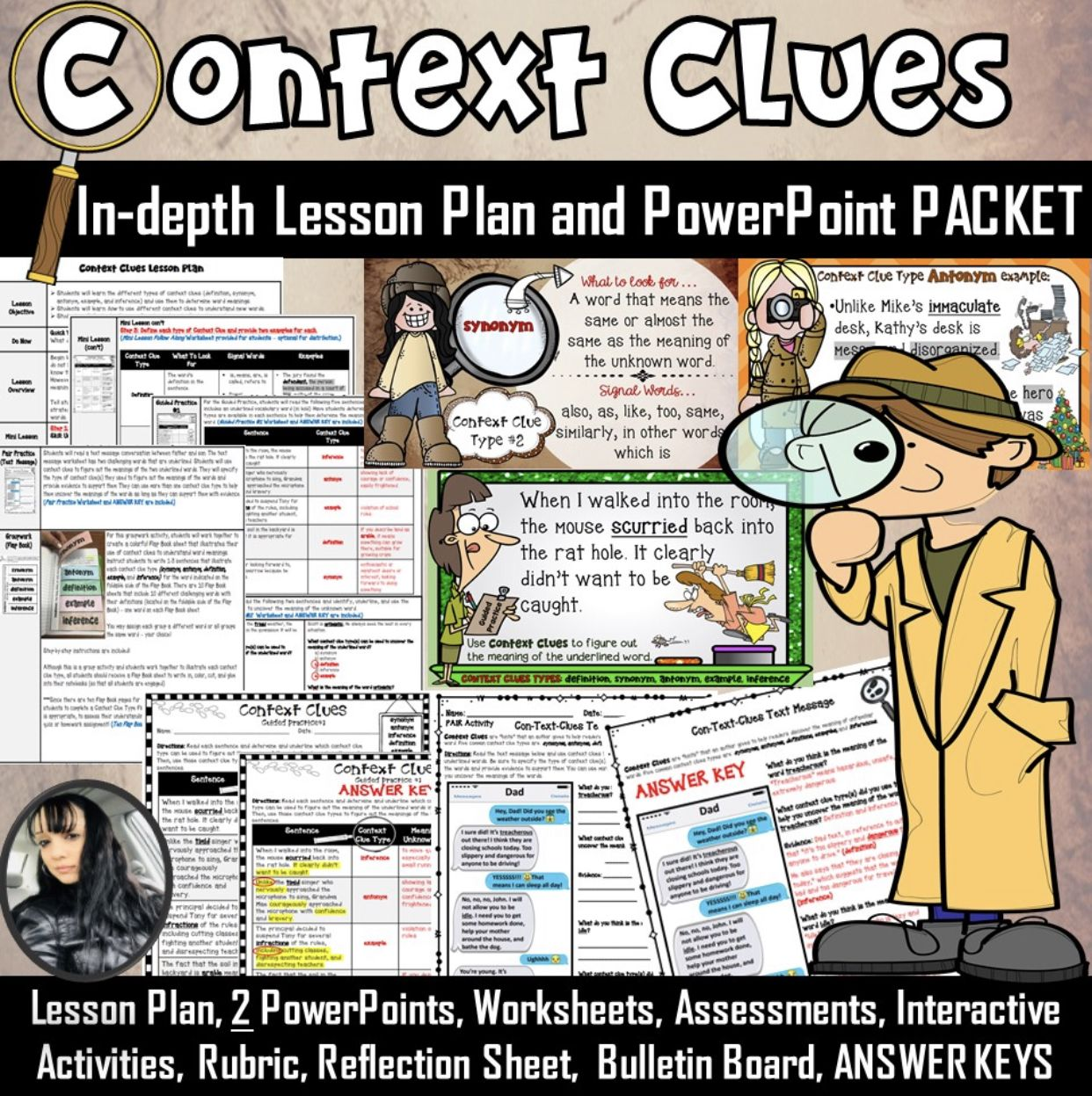 Context Clues Lesson And Powerpoint Packet 137 Pages