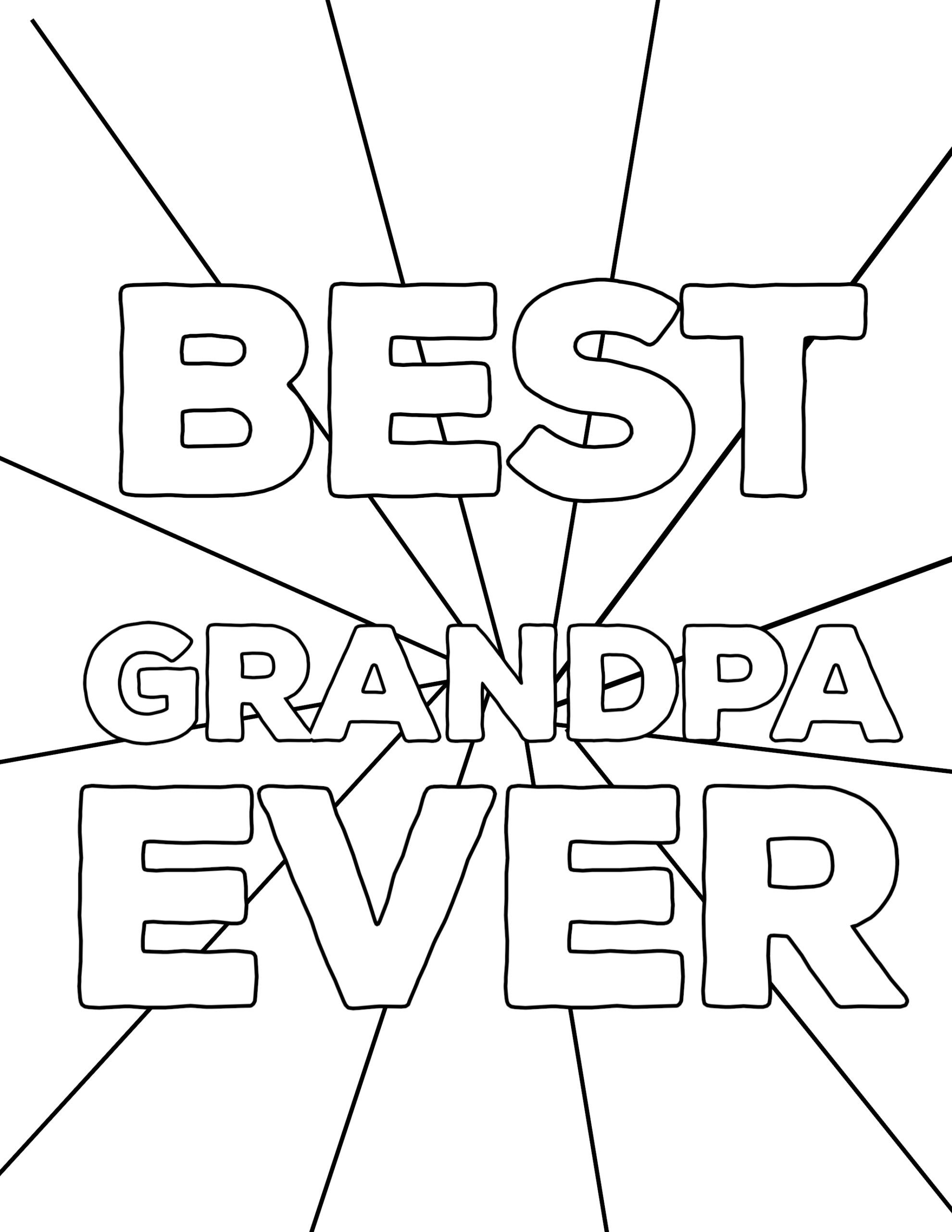 Happy Birthday Coloring Pages For Grandpa Tips