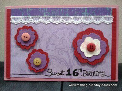 Sweet 16 Birthday Cards 2 Craft Ideas Pinterest 16th Birthday