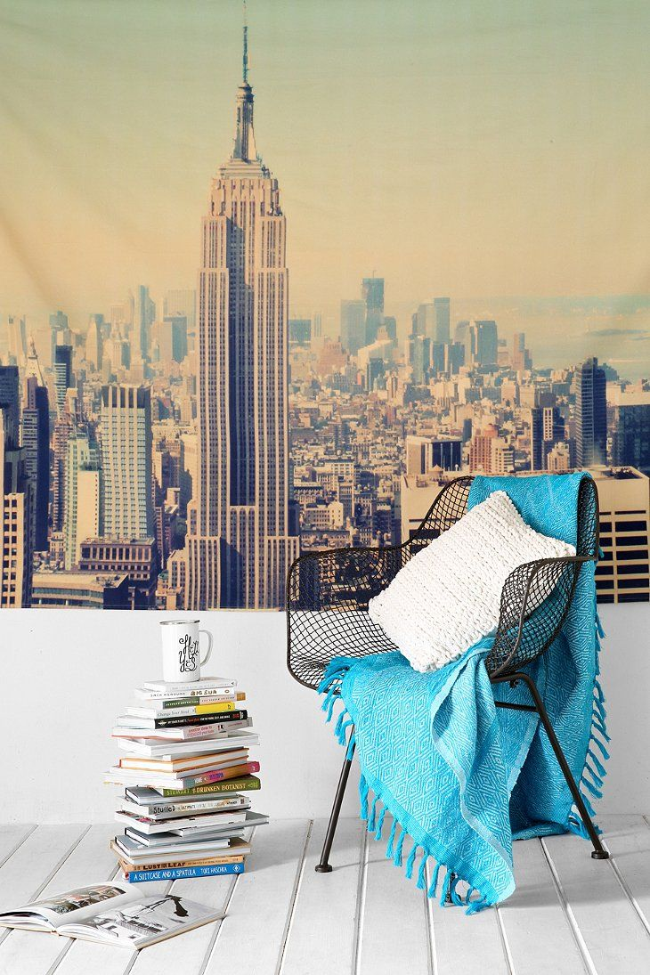 NYC Skyline Tapestry - Urban Outfitters