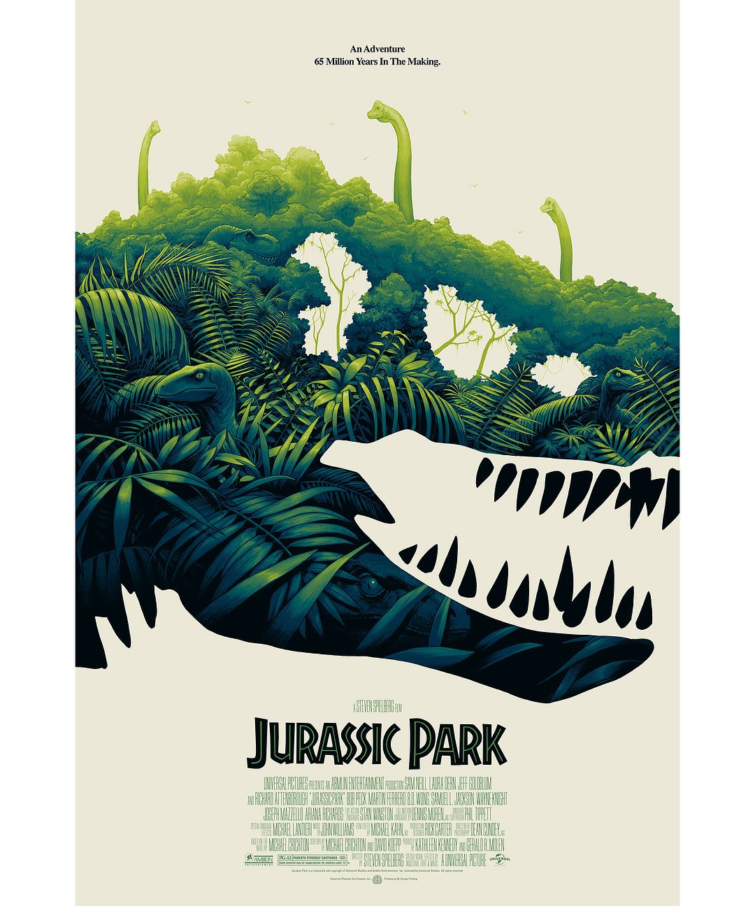 Jurassic World Classic Movie Premium METAL Poster Art Print Gift