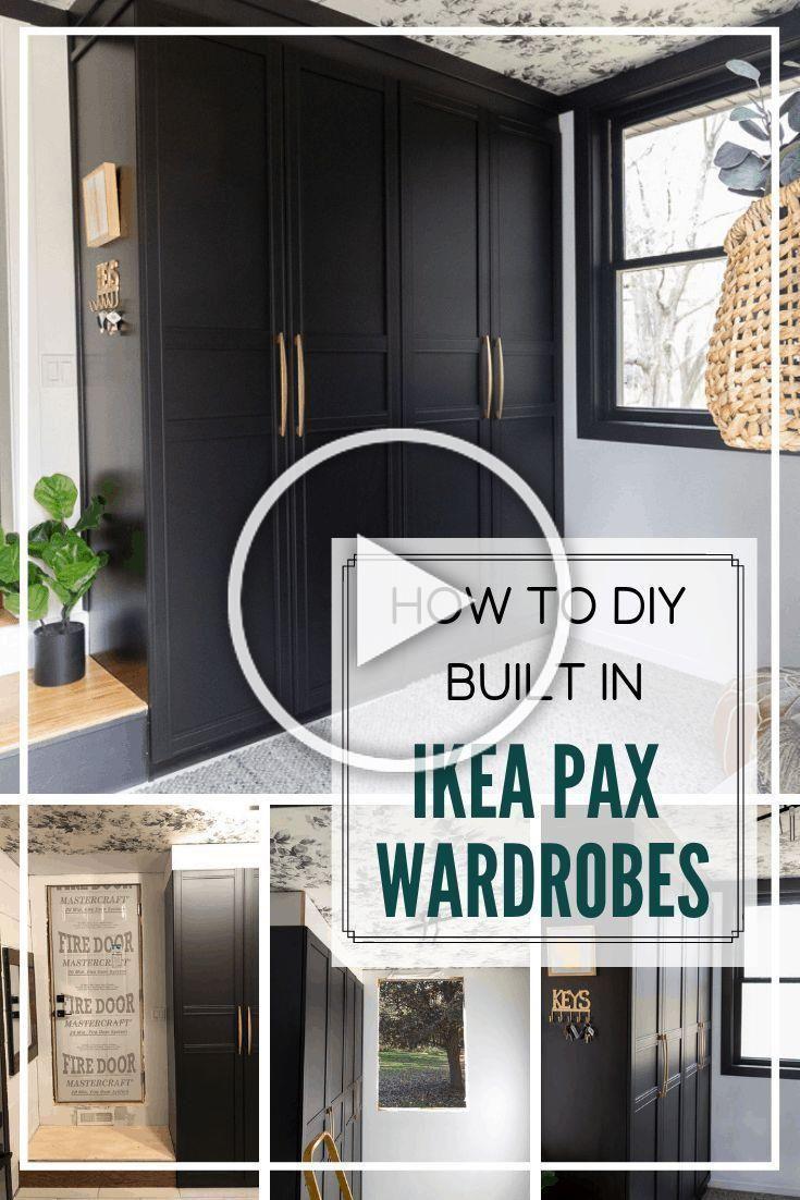 DIY Built In Ikea Pax Wardrobes via @BrightGreenDoor ...