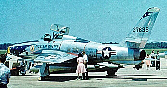 A Republic RF-84F-45-RE Thunderflash of the 153rd TRS, Mississippi Air Guard, 1961.