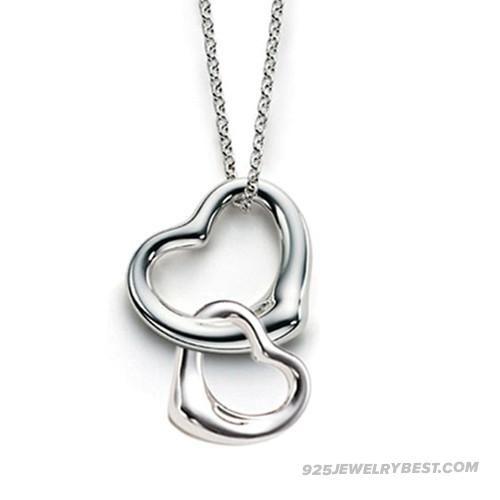 Tiffany Double Heart Necklace P190 _0995