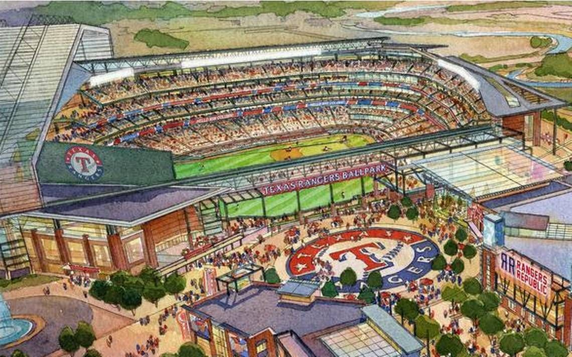 Rangers Could Play In New Air Conditioned Ballpark In 2021 Season Texas Rangers Ballpark Ballparks Ranger