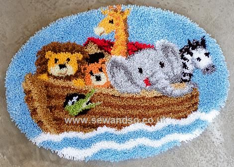 Noah S Ark Latch Hook Kit Online At Www Sewandso Co Uk