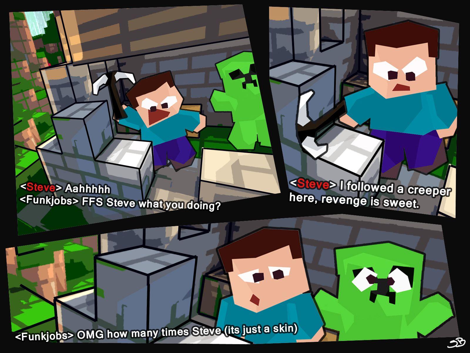 Minecraft Bored Steve Grief Creeper Skin Minecraft Minecraft