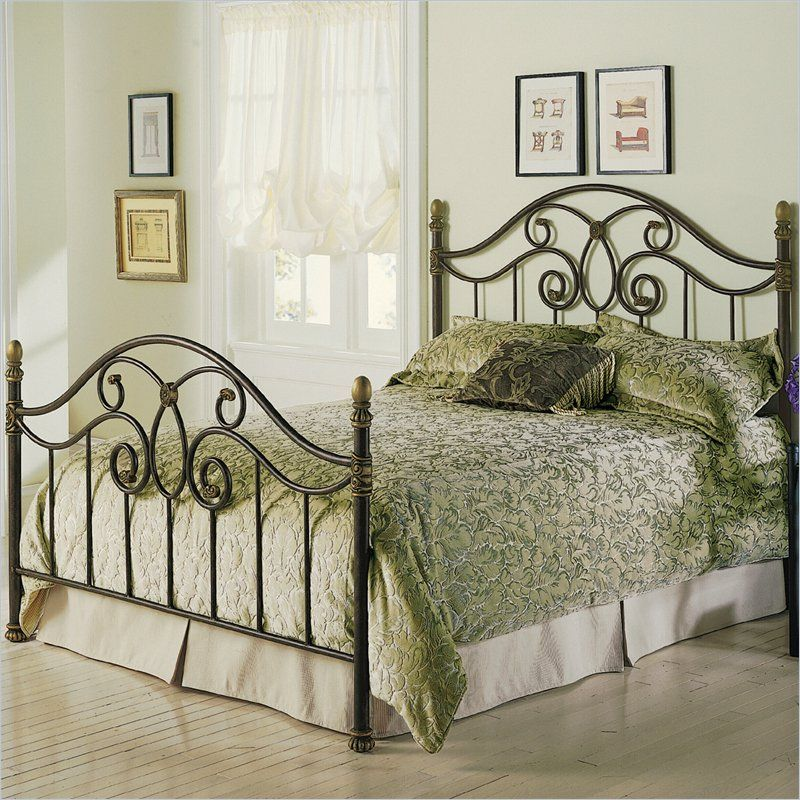 Dynasty Metal Poster Bed in Autumn Brown Finish - B91N5X seen on www.cymax .com