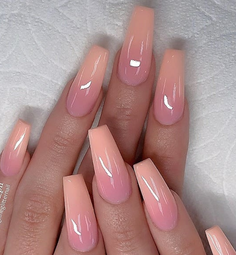 53 Chic Natural Gel Nails Design Ideas For Coffin Nails Ombre Acrylic Nails Coffin Nails Designs Summer Acrylic Nails