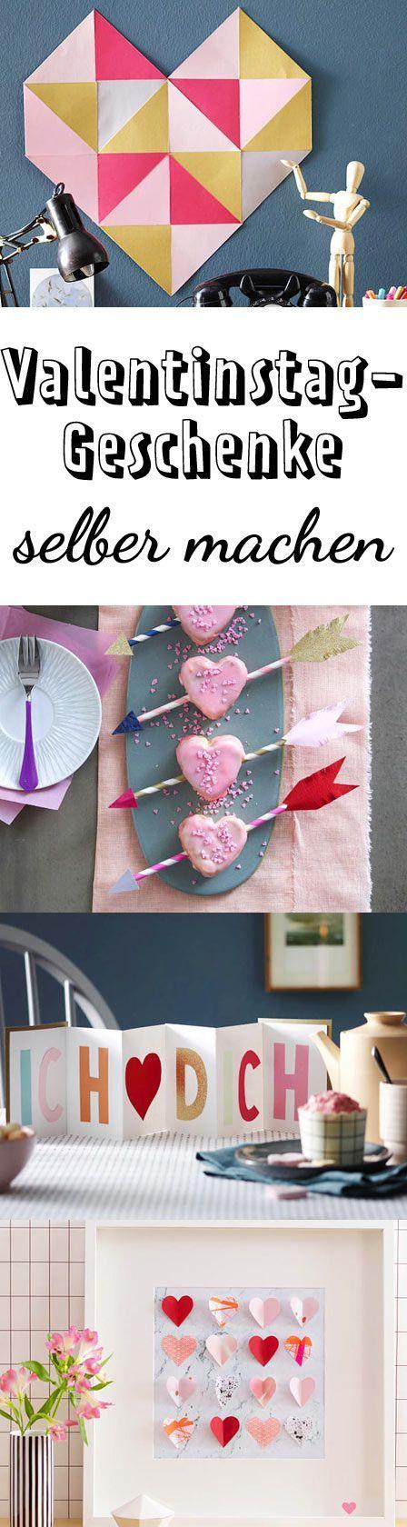valentinstag geschenke selber machen 5 herzige ideen romantische geschenke pinterest. Black Bedroom Furniture Sets. Home Design Ideas