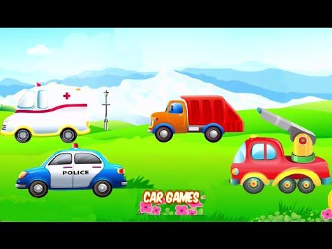puzzles for kids car game vehicle police ar fire truck ambulance