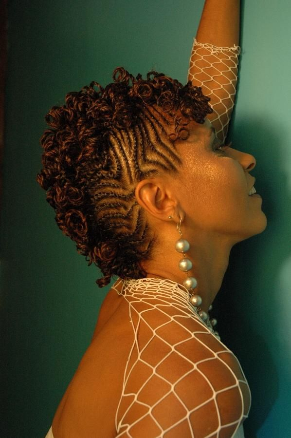tiny curly braids cute hairy